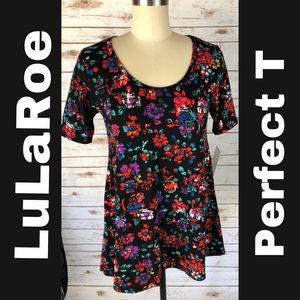 LuLaRoe Floral Print Perfect T Top